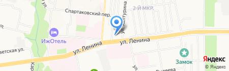 АЗС Газпром на карте Ижевска
