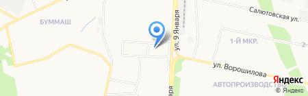 Спартак-мебель на карте Ижевска