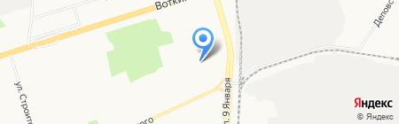 Профессиональное училище №6 на карте Ижевска