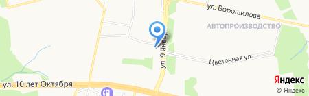 Чистый двор на карте Ижевска