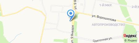 Иж-арболит на карте Ижевска