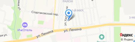 Бурлеск на карте Ижевска
