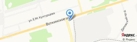 Адвокатский кабинет Чванова С.П. на карте Ижевска