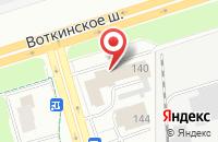 Схема проезда до компании Ижмедтех в Ижевске