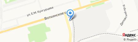ЧелныАвтоСнаб на карте Ижевска
