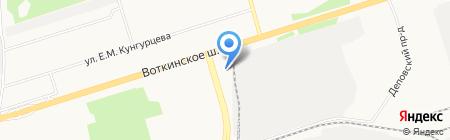 Баня №6 на карте Ижевска