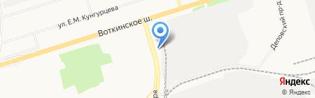 Химчистка ковров на карте Ижевска