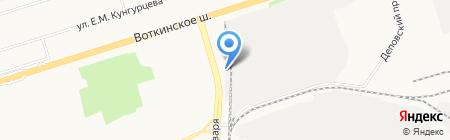 Филиал управления производственно-технологической комплектации №824 на карте Ижевска
