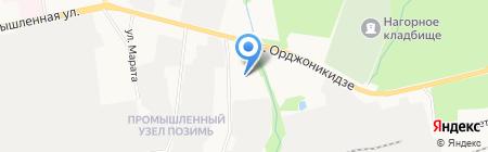 Амега на карте Ижевска