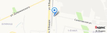 Ока на карте Ижевска