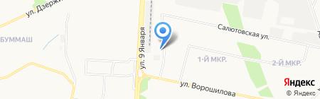Шиномонтаж на Ворошилова на карте Ижевска