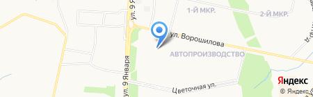 Детская поликлиника №1 на карте Ижевска