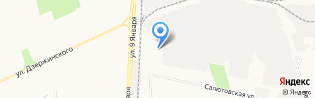 Удмуртская Цементная Компания на карте Ижевска