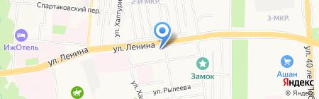 Багира на карте Ижевска