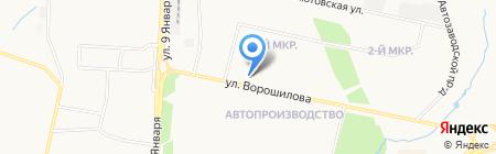 Сактон на карте Ижевска
