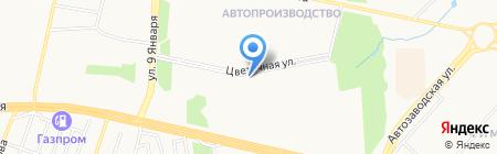 Цветочная на карте Ижевска