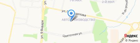 Средняя общеобразовательная школа №93 на карте Ижевска