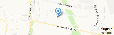 Ворошилова 55 к4 на карте Ижевска