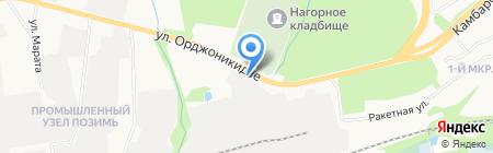 Ангара на карте Ижевска