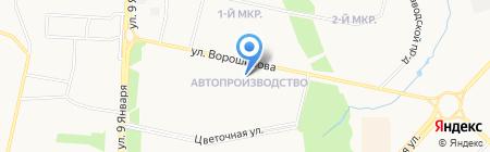 Аквамарин на карте Ижевска