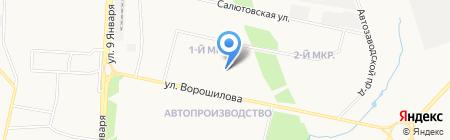 Север на карте Ижевска