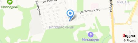 Нефтяник на карте Ижевска