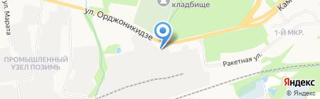 Ликре на карте Ижевска