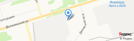 Смирновский на карте Ижевска