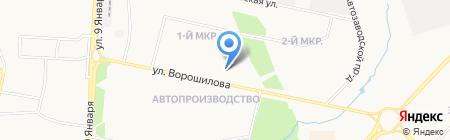 Полёт на карте Ижевска