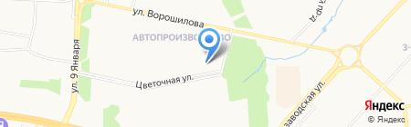 Бисар на карте Ижевска