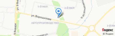 РЖК на карте Ижевска