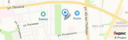 Сосновый на карте Ижевска