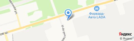 Игерман-центр на карте Ижевска