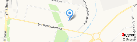 Детский сад №29 на карте Ижевска
