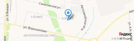 Кизили на карте Ижевска
