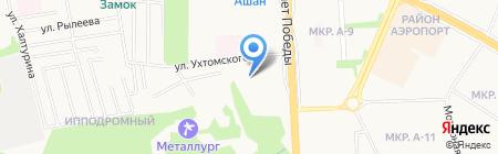 Голубой вагон на карте Ижевска
