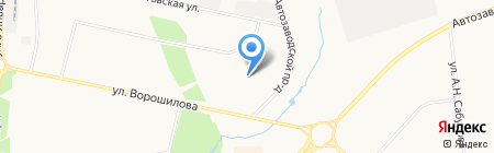 Солнечный на карте Ижевска