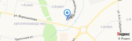 Жигули на карте Ижевска
