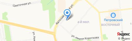 Автомобилист на карте Ижевска