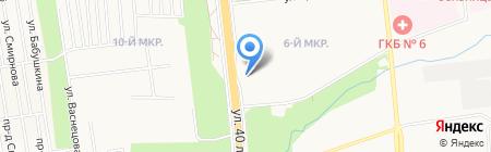Кансель на карте Ижевска