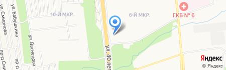 Магазин сантехники и хозяйственных товаров на карте Ижевска