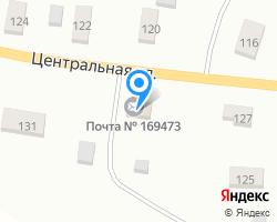 Схема местоположения почтового отделения 169473