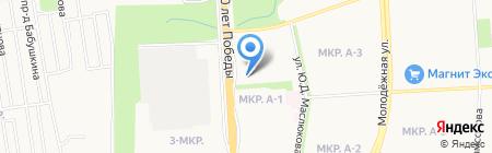 Рюмка на карте Ижевска