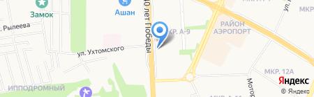 Энерси на карте Ижевска