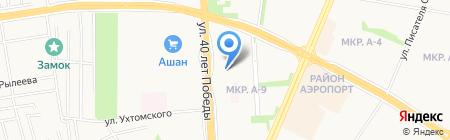 Уральская на карте Ижевска