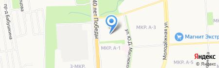 Зефир на карте Ижевска