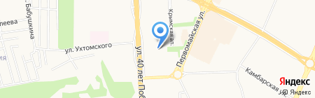 Средняя общеобразовательная школа №42 на карте Ижевска