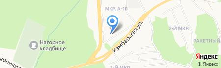 Лазурный на карте Ижевска