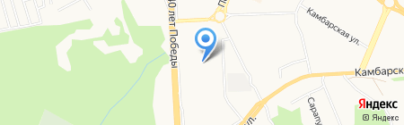 Детский сад №11 на карте Ижевска