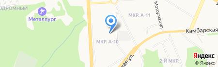 Брусмарк на карте Ижевска